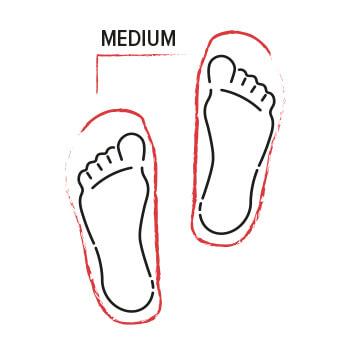 Einlegesohlen für normale Füße