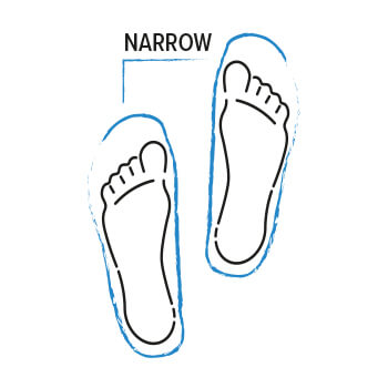 Einlegesohlen für schmale Füße
